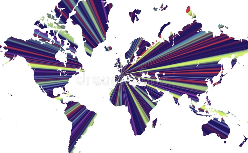 Download Radiant World Map stock illustration. Image of conceptual - 3142798