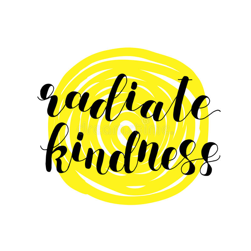 Free Radiate Kindness. Lettering Illustration. Royalty Free Stock Photos - 88967478