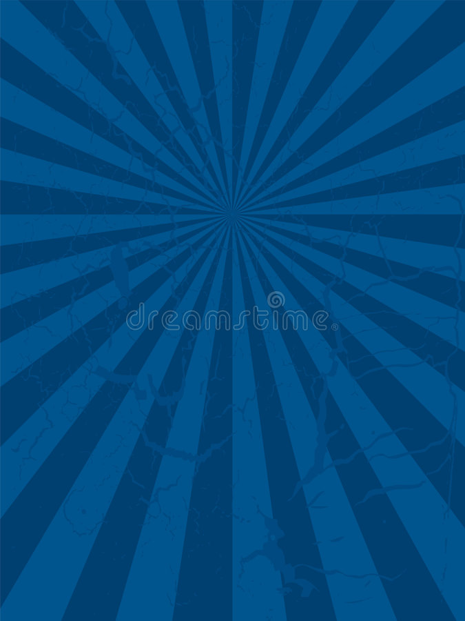 Radiate mottled. Abstract mottled blue background with a radiating design stock illustration