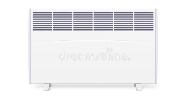 Radiateur électrique domestique, icône du convecteur à la maison, illustration 3D illustration stock