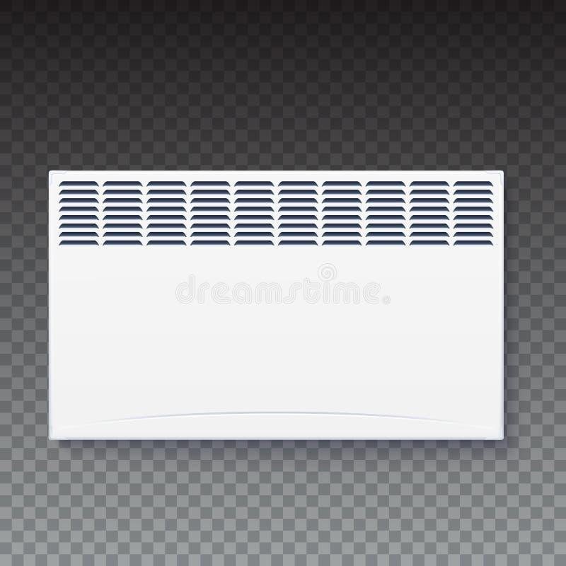Radiateur électrique domestique, icône du convecteur à la maison, panneau électrique d'appareil de radiateur pour le chauffage de illustration stock