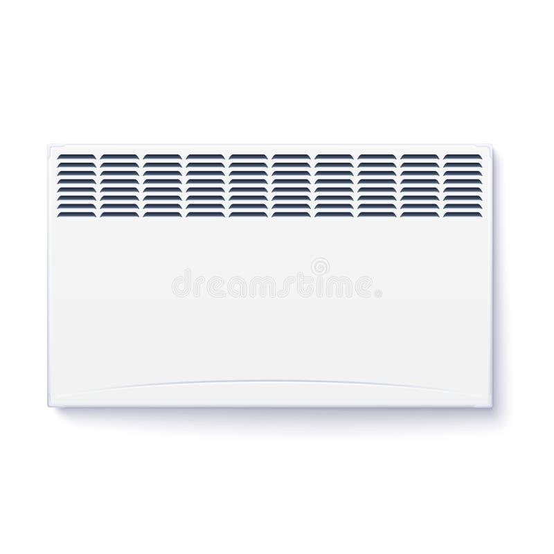 Radiateur électrique domestique, icône du convecteur à la maison, panneau électrique d'appareil de radiateur pour le chauffage de illustration libre de droits
