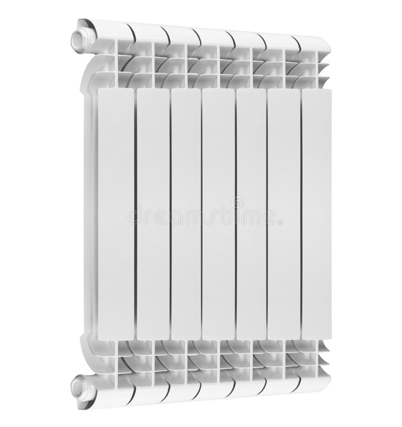 Radiateur de chauffage avec le thermostat d'isolement photo libre de droits