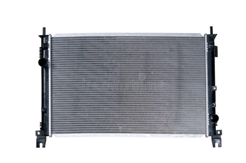 Radiateur de voiture d'isolement sur le fond blanc image stock