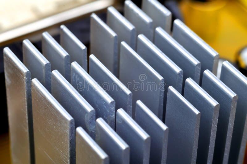 Radiateur en aluminium de jeu de puces images stock