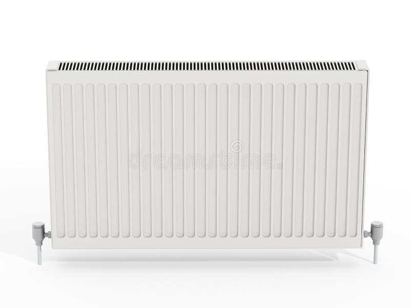 Radiateur sur le fond blanc illustration 3D illustration de vecteur