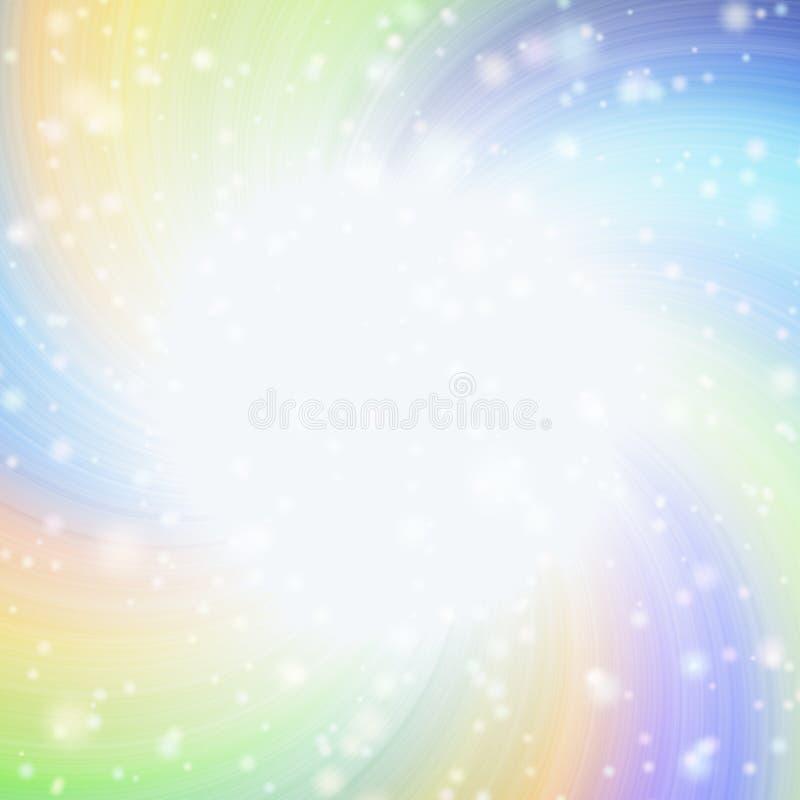 Radiating rays of light with bright spotlight vector illustration