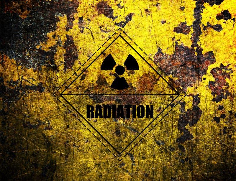 Radiation, grunge background vector illustration