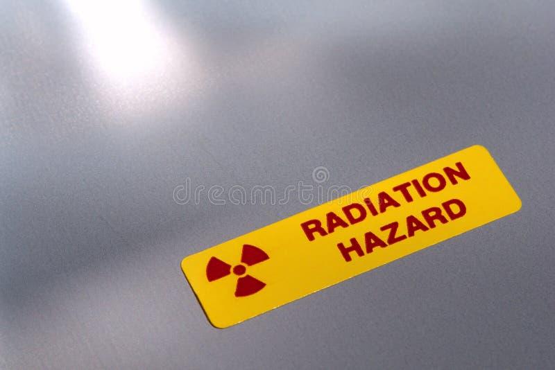 Radiation Hazard Danger Warning Label royalty free stock photo