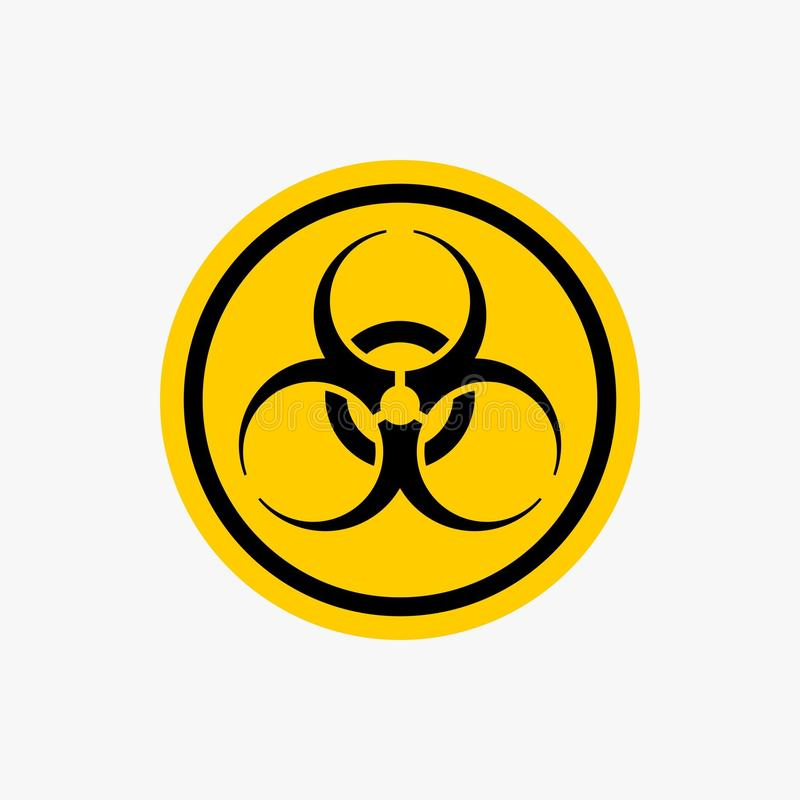 Radiation hazard icon nuclear warning sign vector design. For your business company royalty free illustration