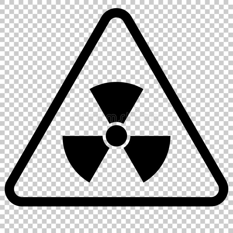 Radiation Hazard Sign. Isolated symbol royalty free illustration