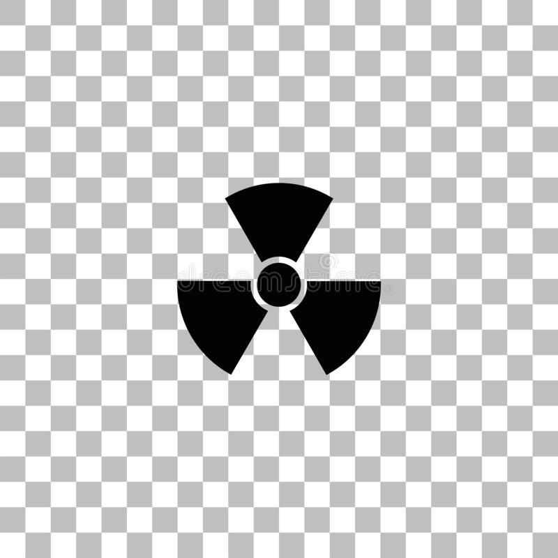Radiation icon flat. Radiation. Black flat icon on a transparent background. Pictogram for your project royalty free illustration