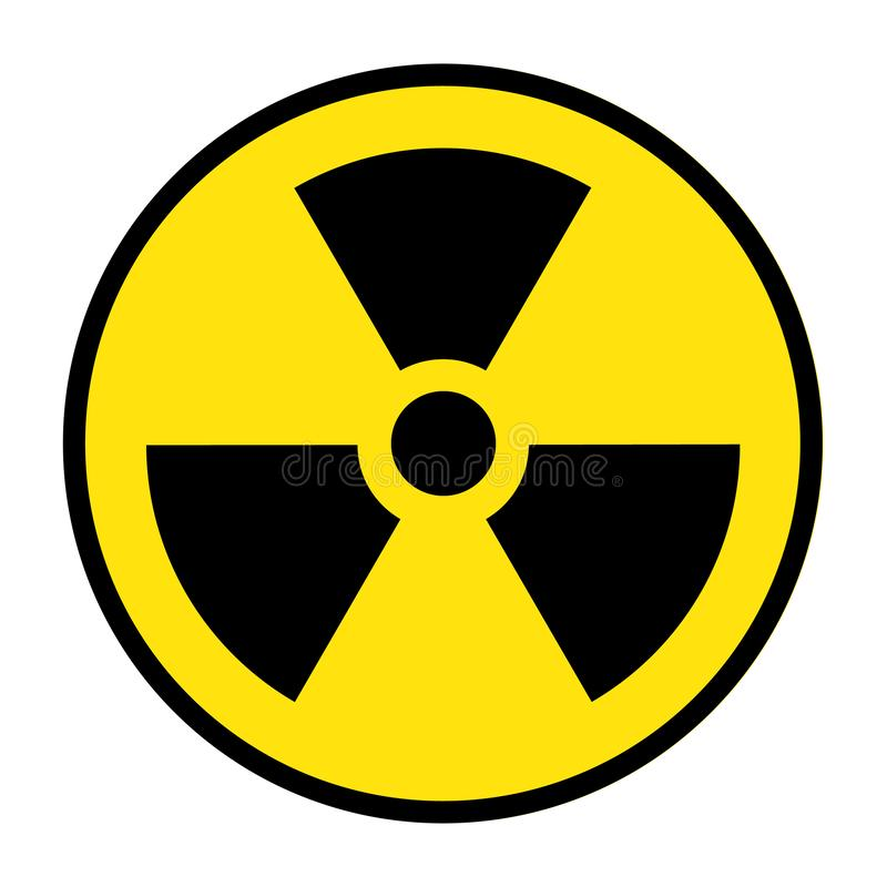 The radiation icon. Radiation symbol. Vector, radioactive vector royalty free illustration