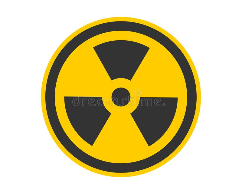 Radiation icon vector. Warning radioactive sign danger symbol royalty free illustration