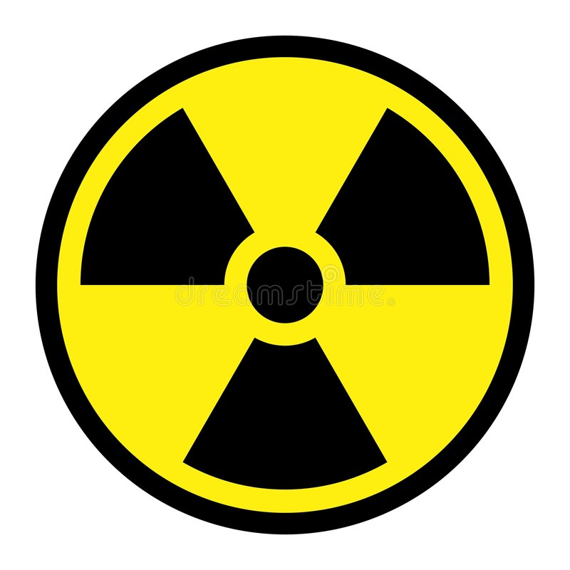 Radiation - Round Sign stock illustration