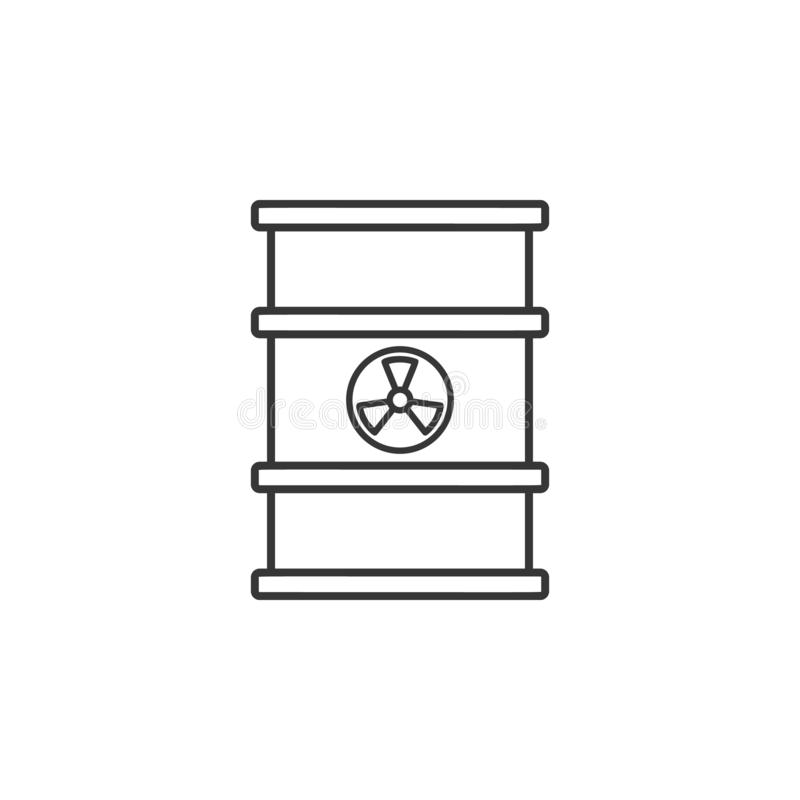 Radiation Sign Tank icon. Simple outline vector of Sustainable Energy set icons for UI and UX, website or mobile application royalty free illustration