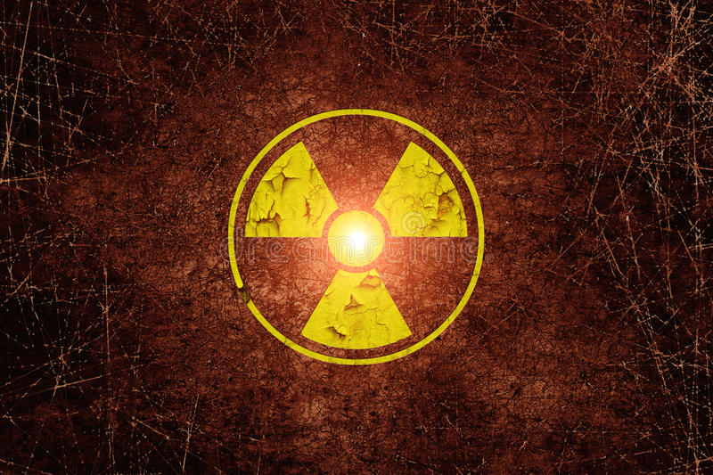Radiation sign stock images