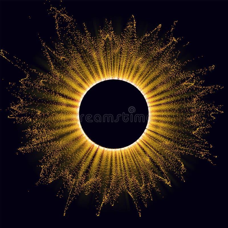 Free Radiation. Solar Wind, Eclipse. Power Energy. Futuristic Flash. Energy Flow. Plasma. Glow Effect. Glint Cosmic Rays Royalty Free Stock Photos - 166131838
