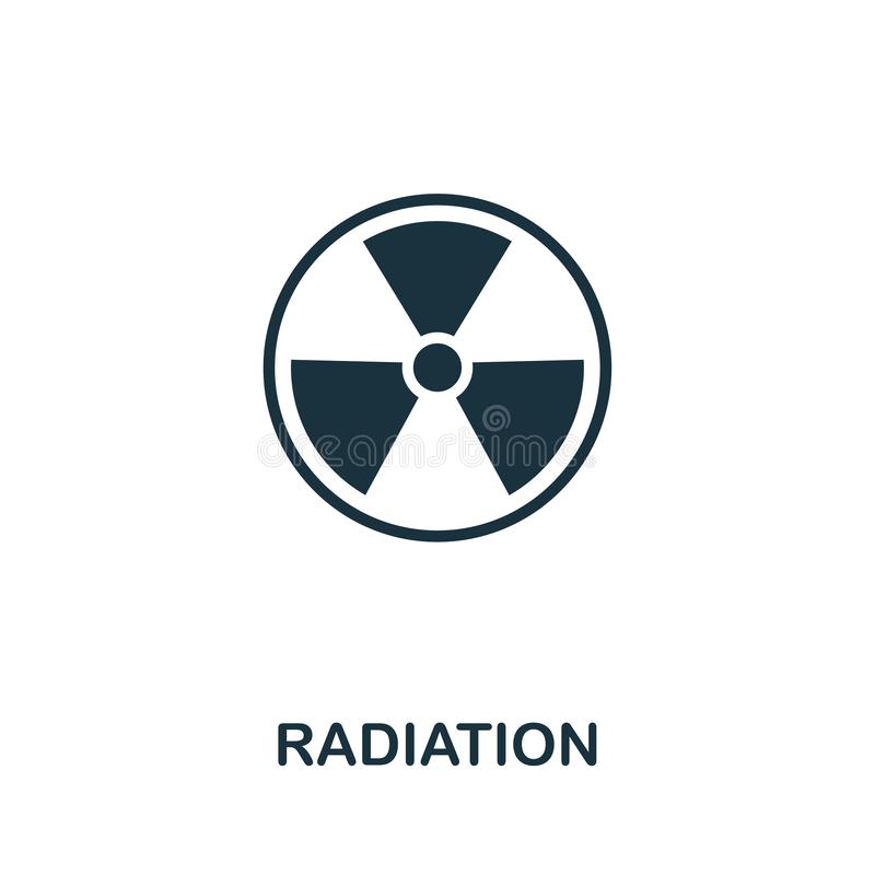 Radiation vector icon symbol. Creative sign from biotechnology icons collection. Filled flat Radiation icon for computer stock illustration
