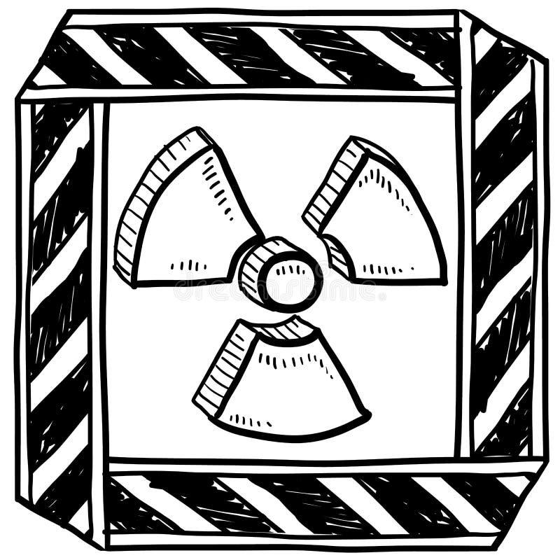 Radiation Warning Sketch Royalty Free Stock Images