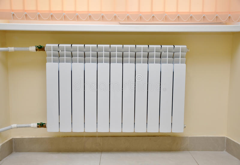Radiator. In the interior of the room royalty free stock image