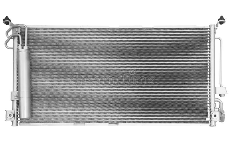Radiator of conditioner. On a white background royalty free stock image