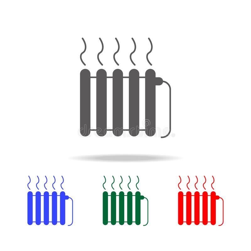 radiator icon. Elements in multi colored icons for mobile concept and web apps. Icons for website design and development, app deve royalty free illustration