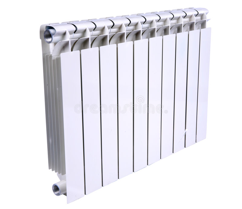 Radiator isolated over a white background stock photos