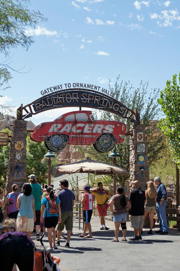Radiator Springs Ride at Disneyland stock image