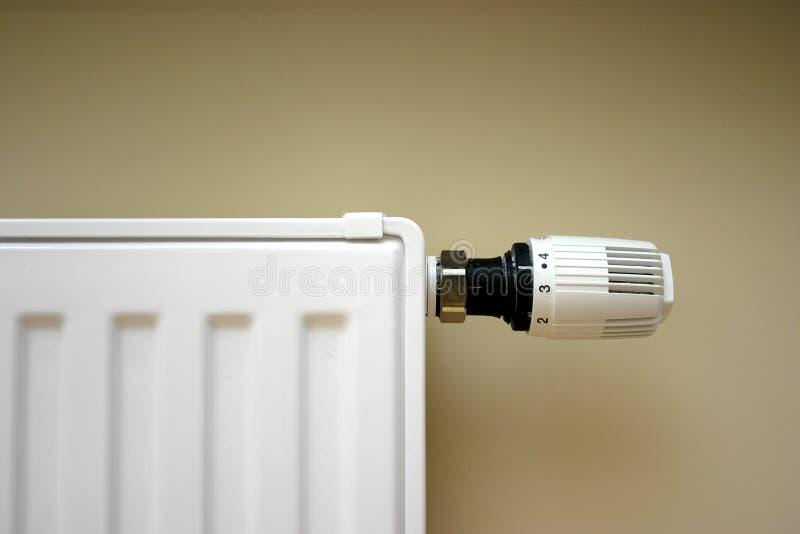 Radiator thermostat set optimal stock photos