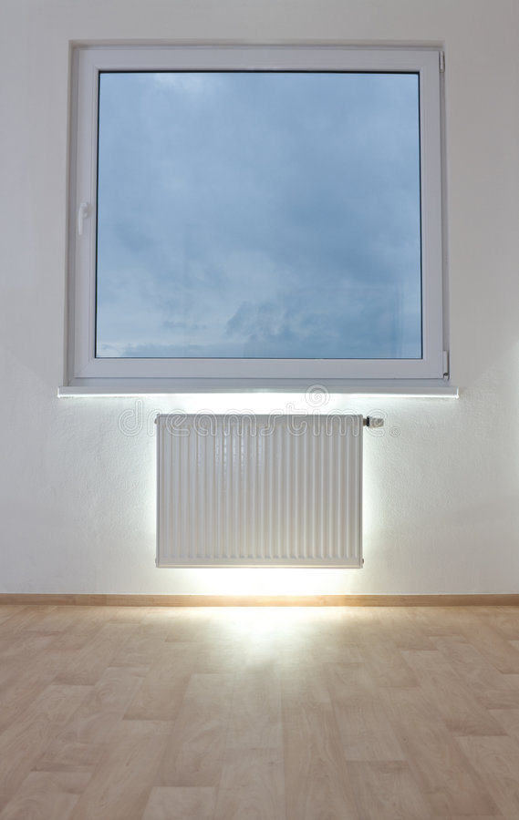 Radiator In Unfurnished Room Stock Photos