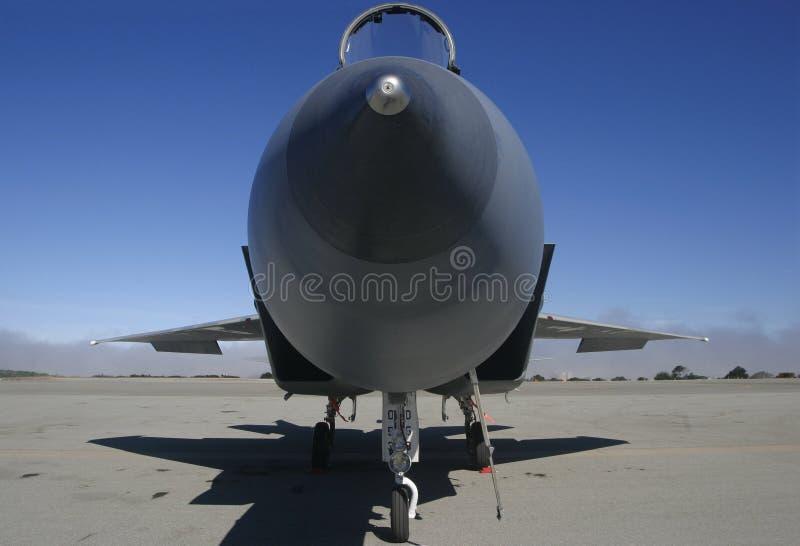 Radiatore anteriore F-15 sopra fotografia stock