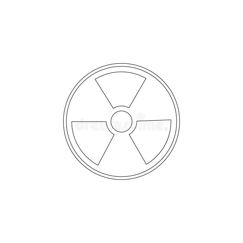 radiazione Icona piana di vettore illustrazione di stock