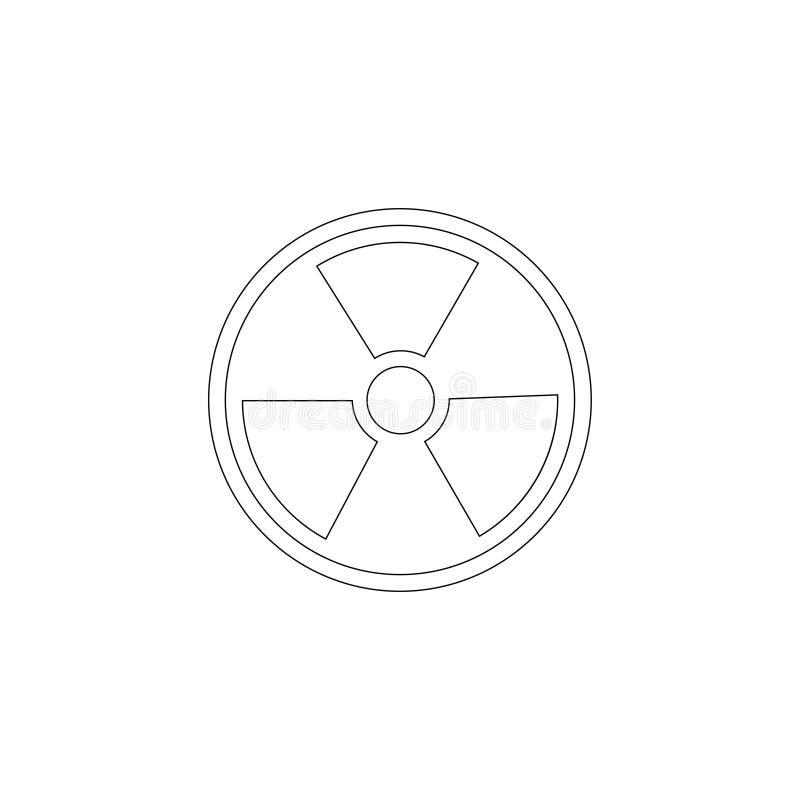 radiazione Icona piana di vettore illustrazione vettoriale