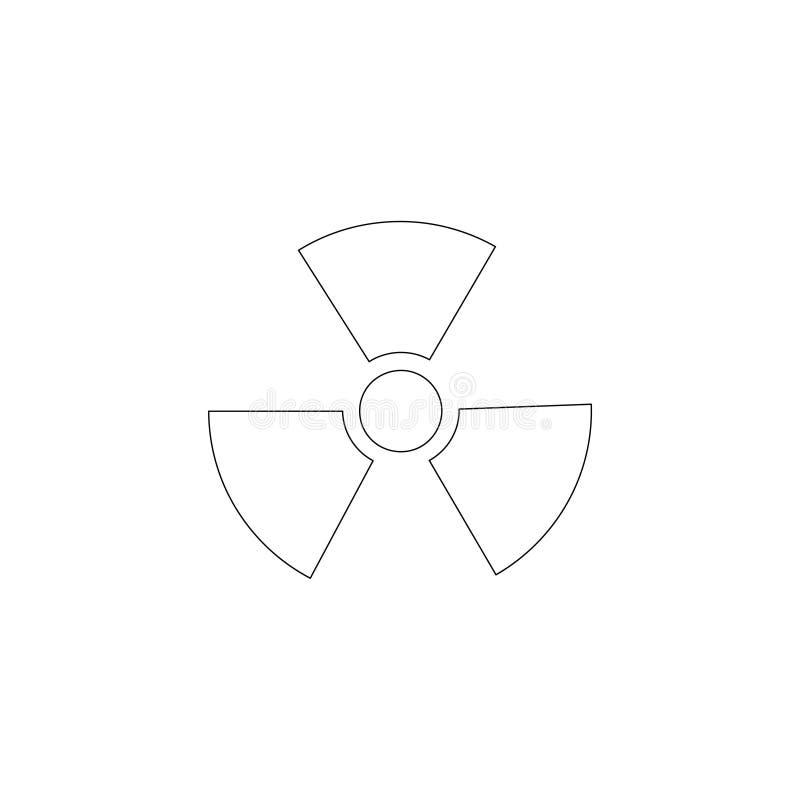 radiazione Icona piana di vettore royalty illustrazione gratis