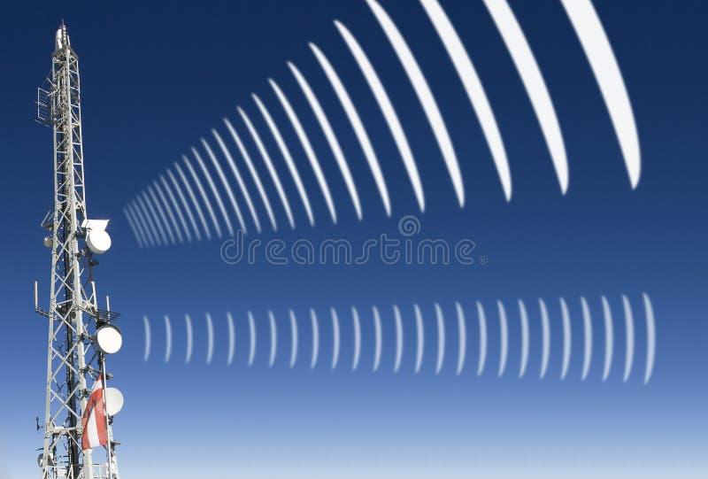 Radiazione radiofonica mobile fotografia stock