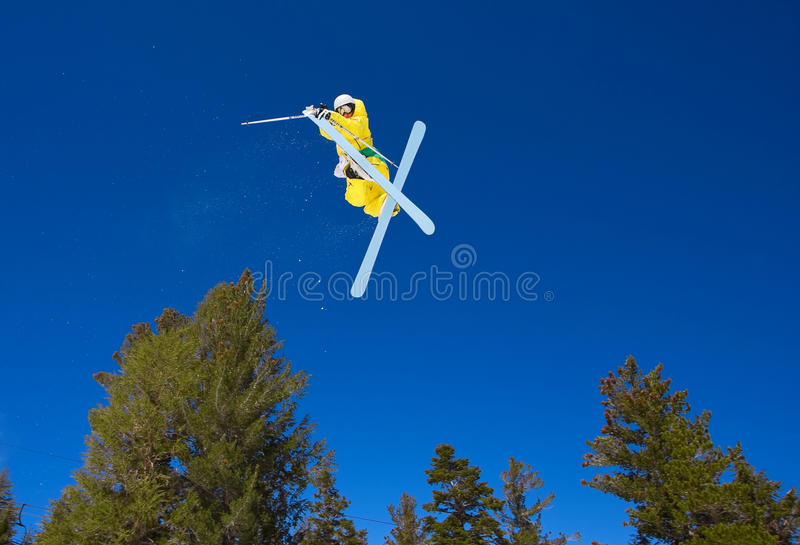 Download Radical Skier Gets Big Air stock photo. Image of downhill - 9372614