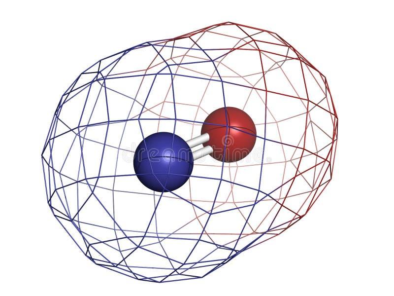 Radicale libero dell'ossido di azoto (NO) e molecola di segnalazione illustrazione di stock