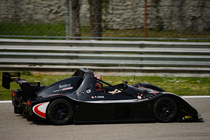 Radicale SR3 RS-autotest in Monza royalty-vrije stock afbeelding