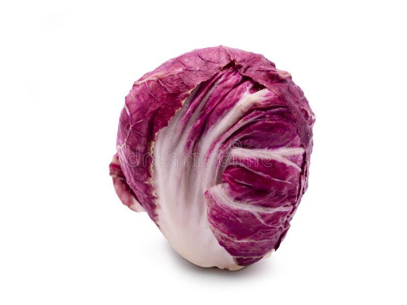 Radicchio, κόκκινη σαλάτα στο άσπρο υπόβαθρο στοκ φωτογραφία με δικαίωμα ελεύθερης χρήσης