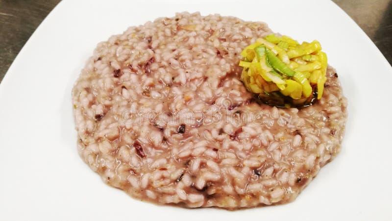 Radicchio de risotto photo stock