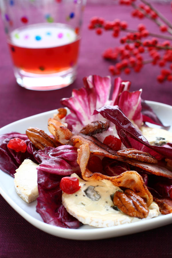 Radicchio and gorgonzola salad royalty free stock photos