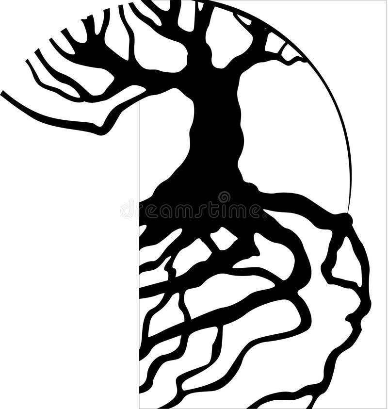Radici dell'albero royalty illustrazione gratis