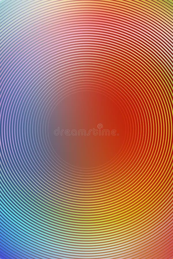 Radiell flerf?rgad bakgrund f?r abstrakt lutning fantasi stock illustrationer
