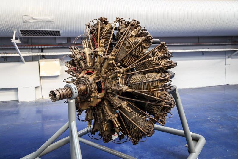 Radiell flygplanmotor arkivbild