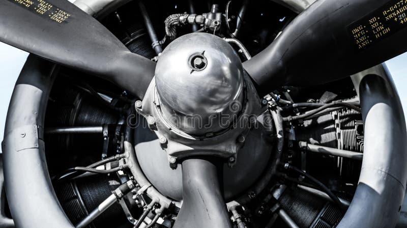 Radiell motor för flygplan arkivfoto