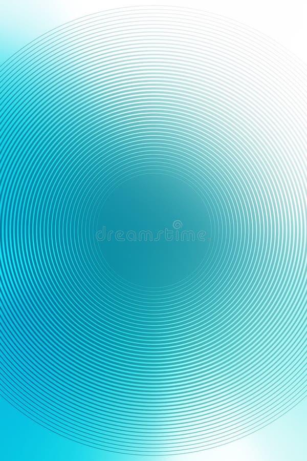 Radiell turkosbakgrund för abstrakt lutning textur vektor illustrationer