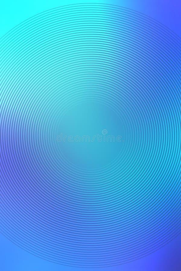 Radiell turkosbakgrund f?r abstrakt lutning mall stock illustrationer