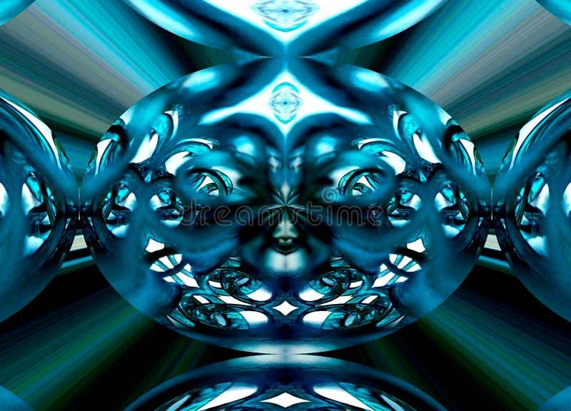 Radiellt symmetriskt foto av den Glass mobilen royaltyfri bild