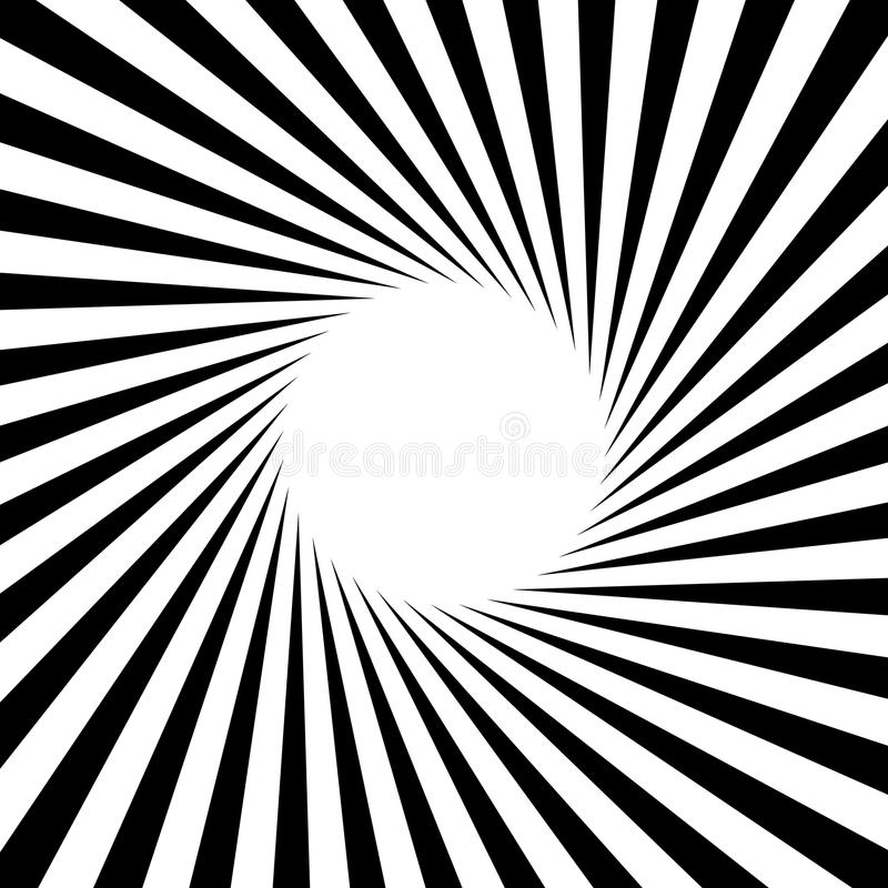 Radiellt - utstråla fodrar den runda modellen för starburstsunbursten stock illustrationer